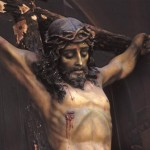 Christ on Cross, Bishop Reyes Cathedral interior, Al;amos, Sonora, Mexico. Photo by Anders Tomlinson.