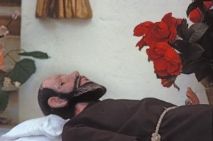 Resting Priest, Bishop Reyes Cathedral, Alamos, Sonora, Mexico. Photo by Anders Tomlinson.