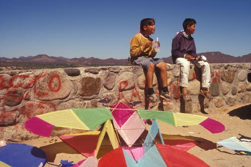 Kite festival in Alamos, Sonora, Mexico. Photo by Anders Tomlinson.