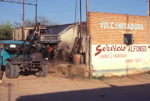 Truck repair shop, Alamos, Sonora, Mexico.  Photo by Anders Tomlinson.