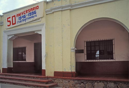 middle school in downtown alamos sonora mexico, 1997, photo by anders tomlinson