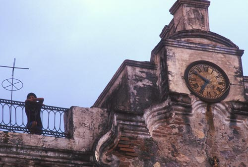 Catheral clock in alamso, sonora, mexico.  photo by anders tomlinson.