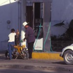 gas station, pemex, alamos, sonora, mexico, 1993. photo by anders tomlinson