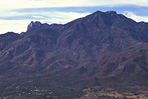 sierra de alamos, towering above alamos, sonora, mexico.  photo by anders tomlinson.  1995