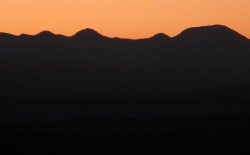 looking east from Álamos, Sonora, México at sunrise