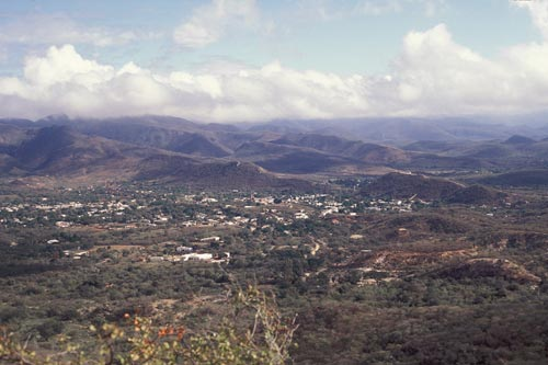 view of alamos, sonora, mexico to the east from tecolote hill, spring, 1995.  photo by anders tomlinson