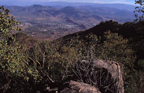 alamos, sonora, mexico seen fro sierra de alamos in the spring of 1995.  photo by anders tomlinson.