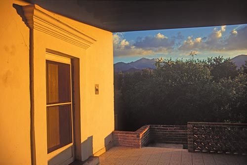 Sierra Se Alamos seen from a sunset porch west of the airport, Alamos, Sonora, mexico.  Photo by Anders Tomlinson.