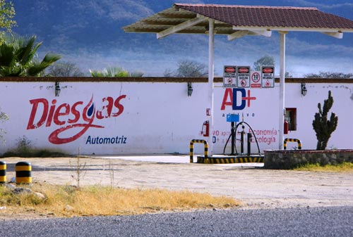 New natural gas station is the eco station.  alamos, sonora, mexico.Photo:  Humberto Enríquez.