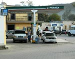 small photo of old gas station on the alameda in alamos, sonora, mexico.  2014, photo by humberto enríquez