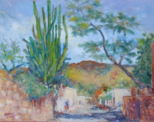 Painting by Robyn Tinus. Tacubaya Etchos owner lives in Carefree Arizona