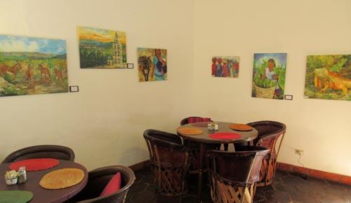 Robyn Tinus art show at Cafe de Sol, Álamos, Sonora, México.