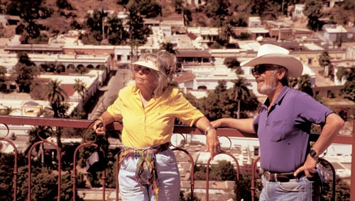 Earle Zimmerman, Joan Gould Zimmerman, Alamos Sonora Mexico, Alamos Spring 1996.  Photo b y Anders Tomlinson.
