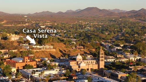 Casa Serena Vista in Álamos, Sonora, México - February 27, 2017. Photo by Anders Tomlinson. Casa Serena is siiting on Loma Guadalope overlooking the Plaza de las Armas.