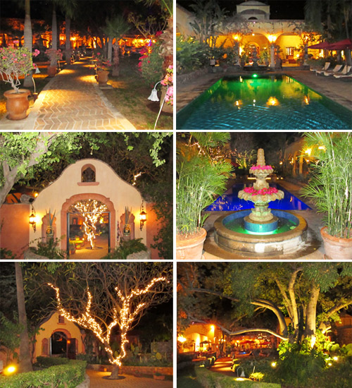 Hacienda de los Santos at night time. Álamos, Sonora, México. Photos by Anders Tomlinson.