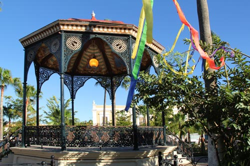 Kiosk/Bandstand in Plaza de las Armas, Álamos, Sonora, México.  Photo by Anders Tomlinson, late February 2017.
